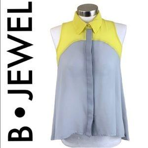 B•JEWEL GRAY YELLOW TOP SIZE MEDIUM